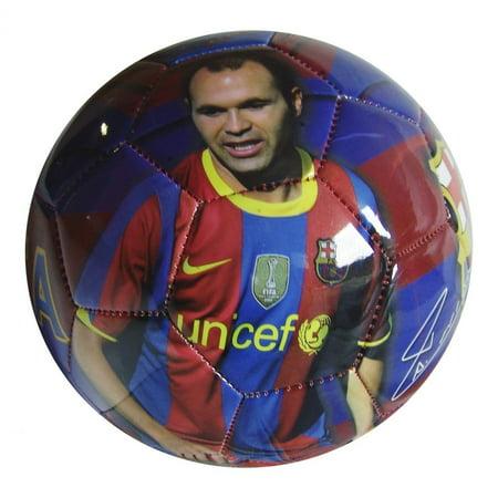 F.C. Barcelona  Iniesta Size 5 Soccer Ball (Total 90 Soccer)