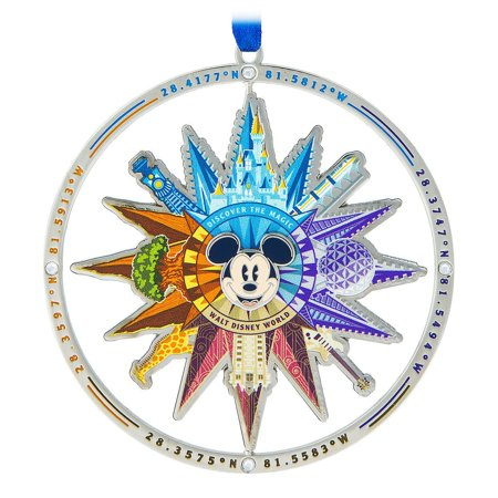 Disney Parks Walt Disney World Compass Christmas Metal Ornament New with Tags ()
