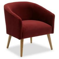 Velvet Barrel Accent Chair by Drew Barrymore Flower Home