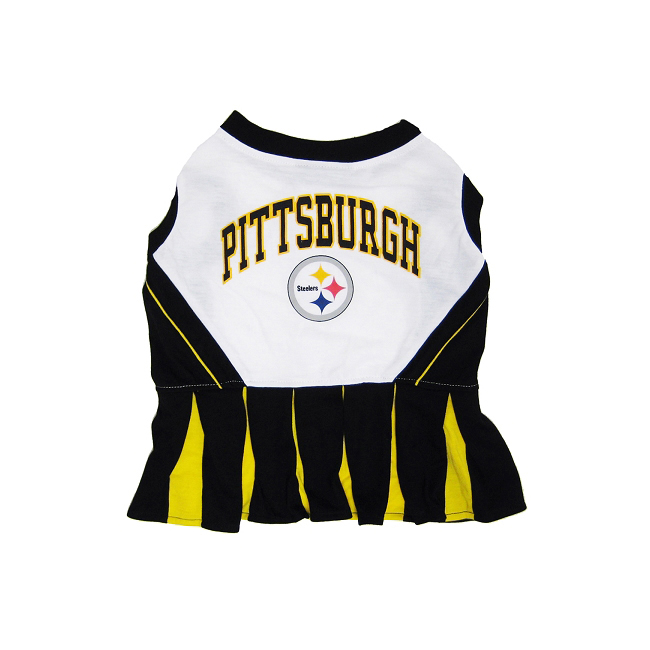 Pets First Pittsburgh Steelers NFL Dog Cheerleader Outfit...