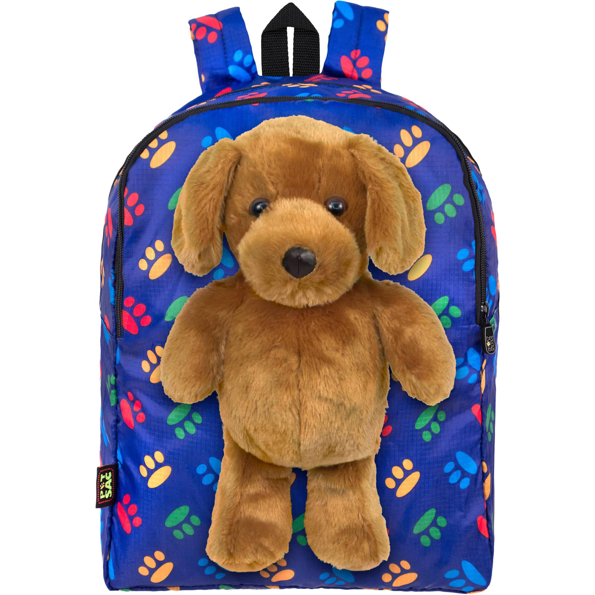 PetSac Buddy the Dog with Blue Paw Printed Backpack - Walmart.com