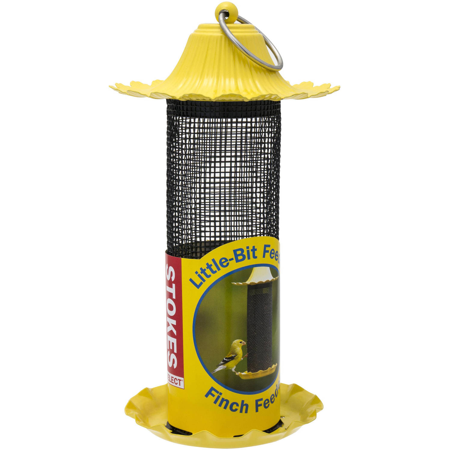 Stokes Select Little-Bit Feeders Finch Birdfeeder with Metal Roof, Yellow, .6 lb Seed... by Hiatt Manufacturing