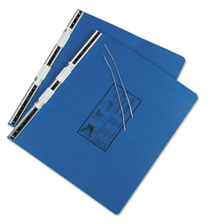 Universal Pressboard Hanging Data Binder, 14 7/8 x 11, Unburst Sheets, Blue -UNV15442