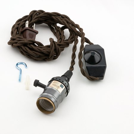 Fantado Single Black Pearl Socket Vintage Style Pendant