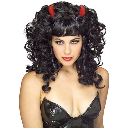 Devil Black Adult Wig