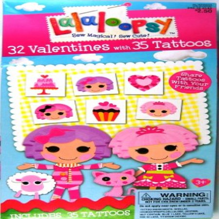 Lalaloopsy 32 Valentines with 35 Tattoos - Valentine Tattoo