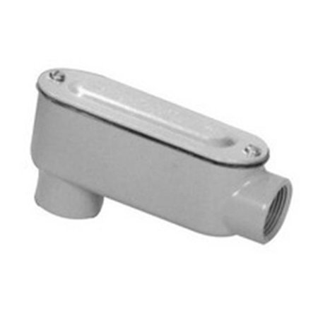 Aluminum Rigid Conduit Body LB Type Threaded with Cover & Gasket, 0.5 in.