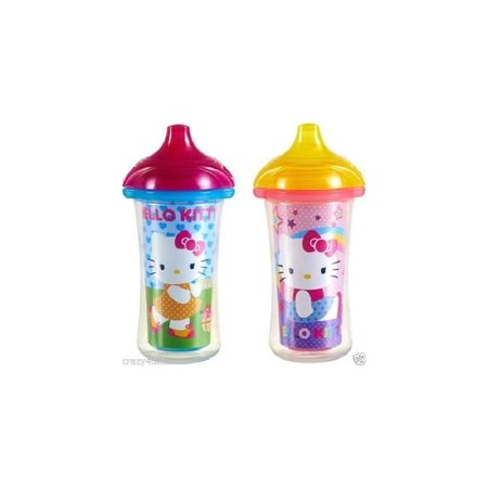 Hello Kitty Click-Lock 9oz Insulated Sippy Cup (Set of 2)](Hello Kitty Cups)