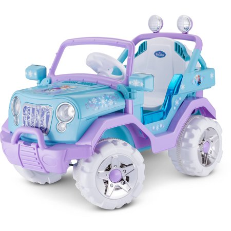 Kid Trax Disney Frozen 4x4 6V Ride-On, Blue/Purple - Frozen Outfits For Kids