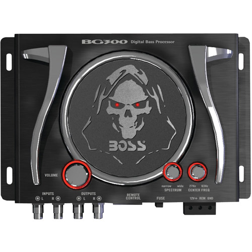 Boss Audio Audio BG300 Bass Generator with Illuminated Logo and Controls