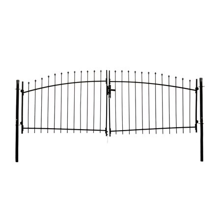 ALEKO DIY Arched Steel Dual Swing Driveway Gate Kit with Lock - ATHENS Style - 11 x 5