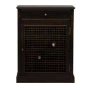Wine Cabinet, Dark Wood