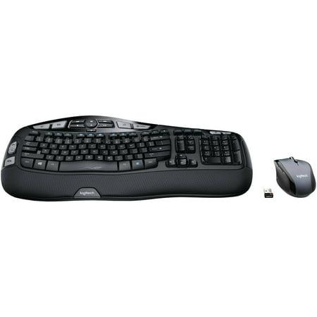 Refurbished Logitech MK570 Comfort Wave Wireless USB Keyboard Laser Mouse  Bundle 920-008001