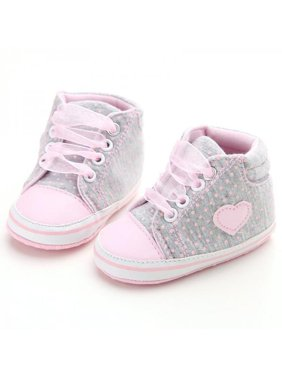 b8caec332b817 Product Image Nicesee Newborn Baby Girls Laces High-Top Ankle Sneakers Soft  Sole Crib Shoes