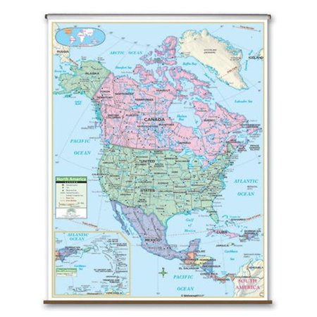 Map Of Canada For Kindergarten.Universal Map 26087 North America Primary Wall Map Backboard