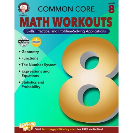 Common Core Math Workouts, Grade 8 (Math Common Core Sample Questions Grade 8)