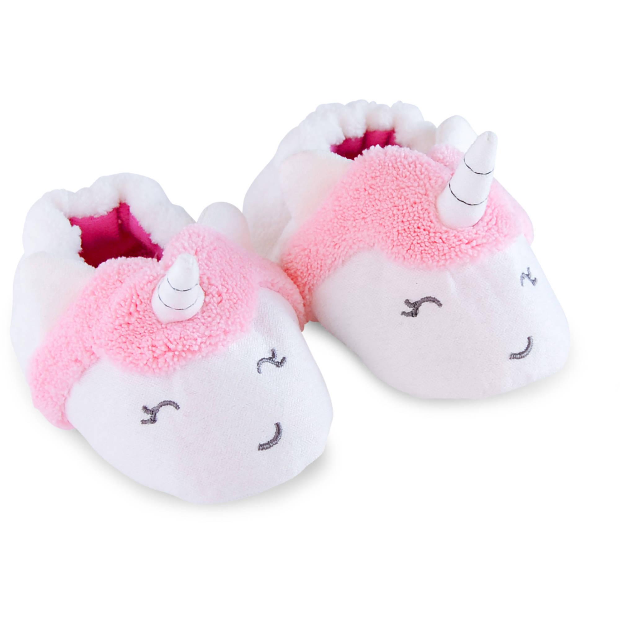 Newborn Baby Girl Unicorn Slippers, NB