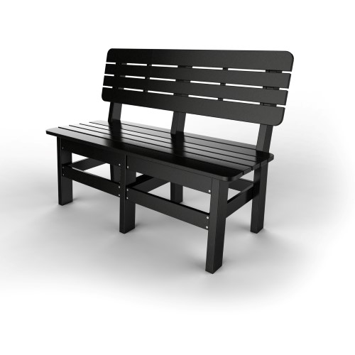 Country Bench by Malibu Outdoor, Black - 48''