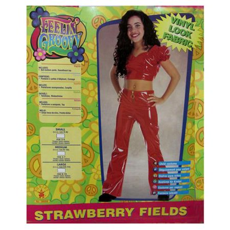 Rubies Girls 'Strawberry Fields' Halloween Costume, Red, S - Strawberry Halloween Costume