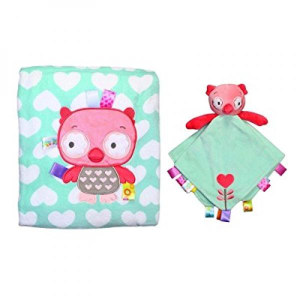 Kids II Ollie Owl Snuggle Blanket and Security Toy with R...