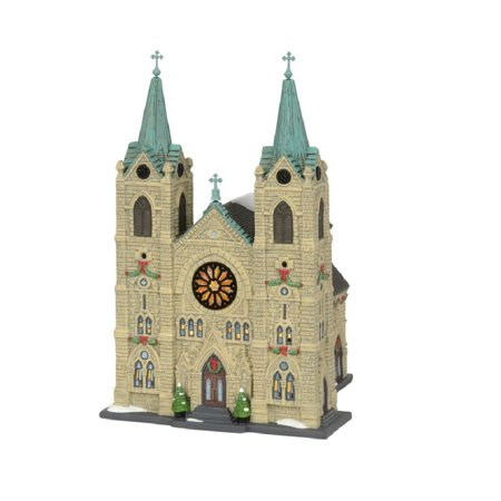 Department 56 Christmas in the City Village St Thomas Cathedral Figurine (Department 56 Christmas In The City Display Ideas)