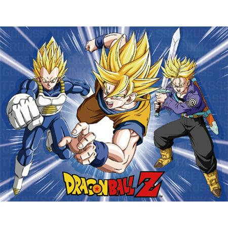 Great Eastern Entertainment Dragon Ball Z Super Saiyan Vegeta, Goku & Trunks Throw Blanket](Dragon Ball Z Vegeta Halloween Costume)