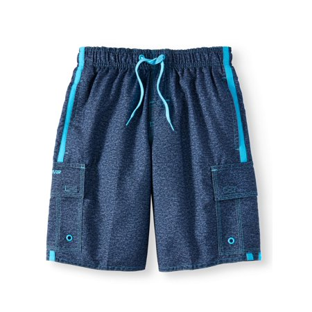 Locked in Forever Solid Swim Trunks (Big Boys) ()