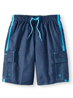 Locked in Forever Solid Swim Trunks (Big Boys)
