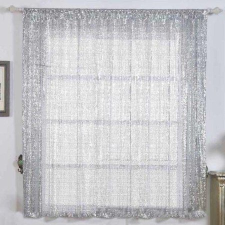 Sequin Panel (Efavormart 2 Panels Glitzy Sequin Room Darkening Window Treatment Panel Drapes With Rod Pockets For Window Decoration 52