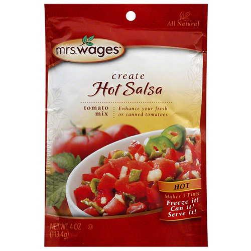 Mrs. Wages Create Hot Tomato Salsa Mix, 4 oz, (Pack of 12)
