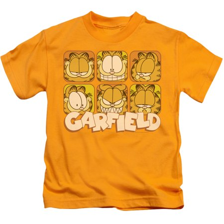 Garfield Many Faces Little Boys Juvy Shirt (Gold, 7) 7 For All Mankind Shirts