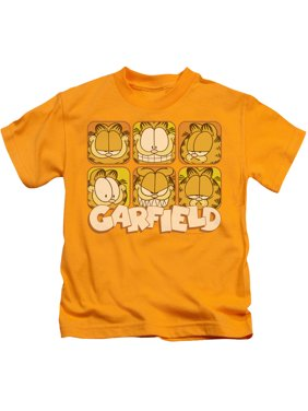 Garfield Many Faces Little Boys Juvy Shirt (Gold, 7)