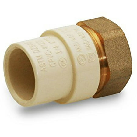 """Everflow Supplies BRCPF034-NL 3/4"""" Lead Free Adapter Fitting with a Brass Female and a CPVC Connect"""