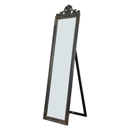 Camilla Standing Mirror in Antique Copper Finish
