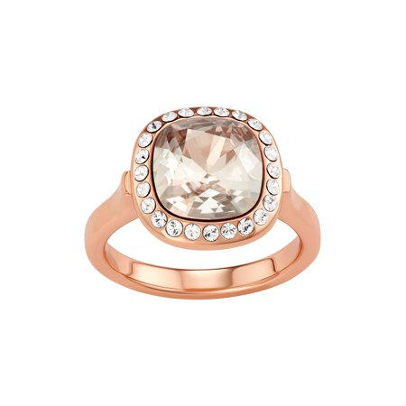 Collection Bijoux - Gold or Silver Tone Ring with Princess Cut Swarovski  Crystal   Halo Pave Crystal - Walmart.com 85deadff0