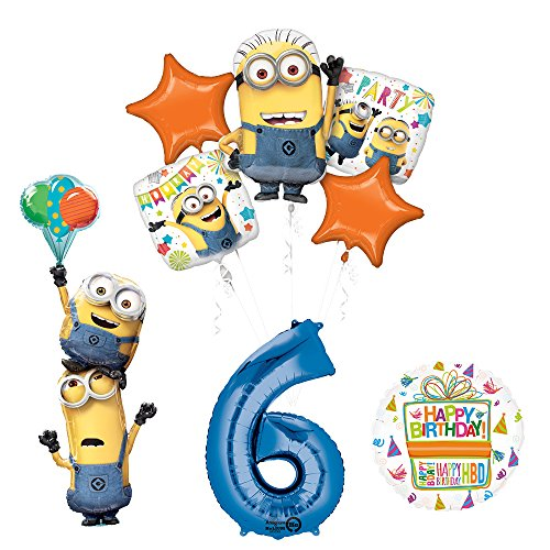 Despicable Me 3 Minions Stackers 6th Birthday Party Supplies
