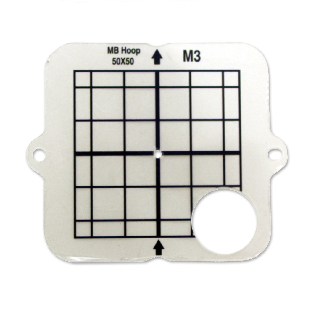 """Janome Hoop Template only 50mm x 50mm (1.91"""" x 1.97"""") for the MB4/MB7 M3 Hoop"""