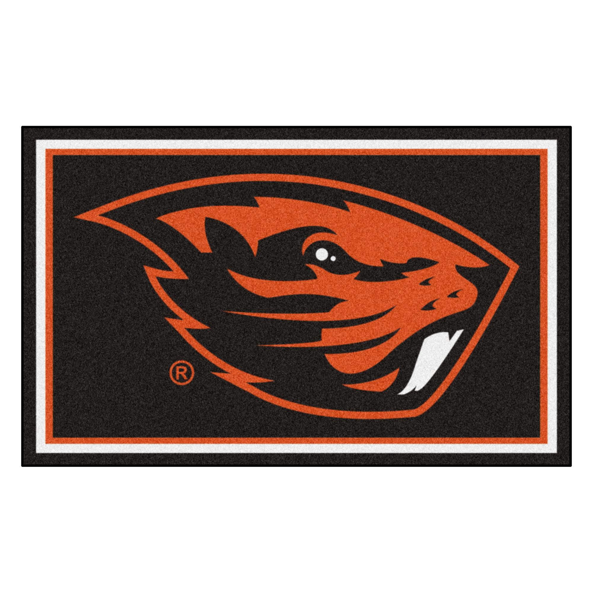 20242 Fanmats College NCAA Oregon State University 44 Inch x 71 Inch Non-skid Nylon carpet Face Chromojet printed 4x6 Plush Rug