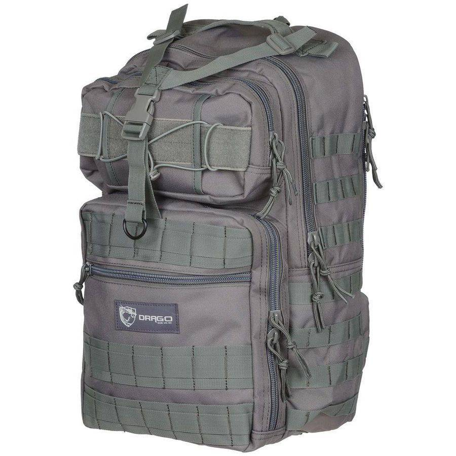 "Drago 14308GY Atlus Sling Pack Backpack Tactical, 600D Polyester, 19"" x 11"" x 10"", Grey"