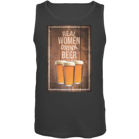Real Women Drink Beer Charcoal Adult Tank (384 Tank)