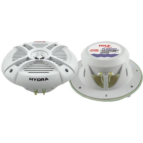 """Pyle PLMRX67 6.5"""" 250W 2-Way Marine Speakers"""