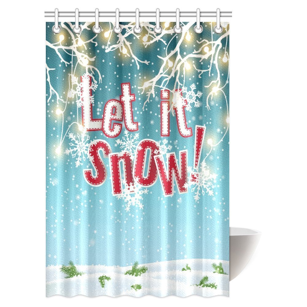 GCKG Let It Snow Shower Curtain Electric Lights And Abstract