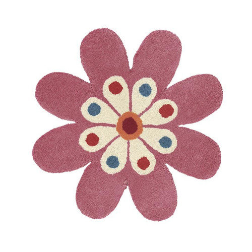 Crescent Drive Rug Company Fantasia Light Pink Flower Area Rug