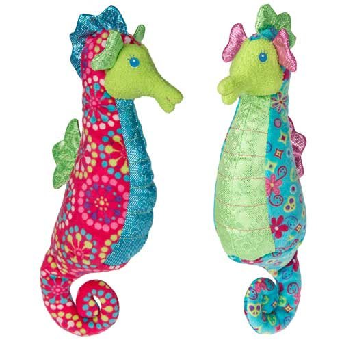 """Mary Meyer Print Pizzazz Coral Seahorse Toy (Set of 2), 6"""""""