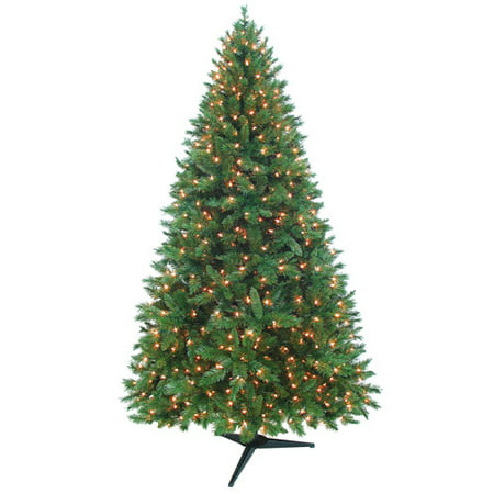 Holiday Time Pre-Lit 7.5' Kennedy Fir Artificial Christmas ...