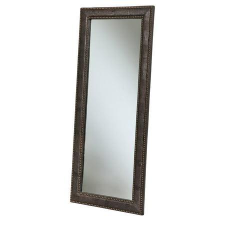 Abbyson Braelin Leather Floor Mirror - 28W x 70H in.