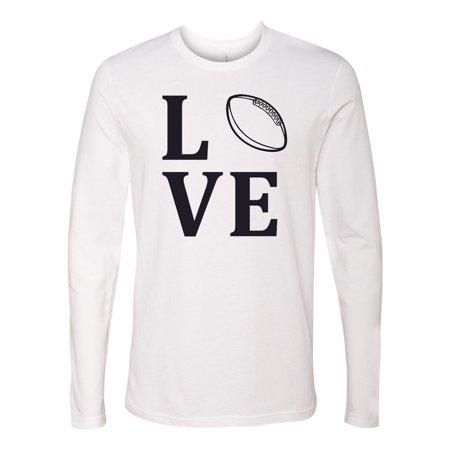 1c9cfad32 Custom Apparel R Us - Love Football Sports Jersey Mens Long Sleeve T ...