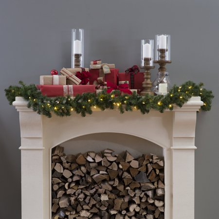 North Valley Spruce Pre Lit Led Garland Battery Operated