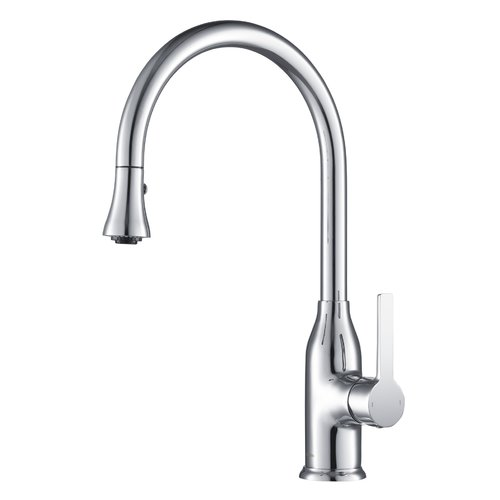 Latitude Run Murray Pull-Down Single Handle Kitchen Faucet