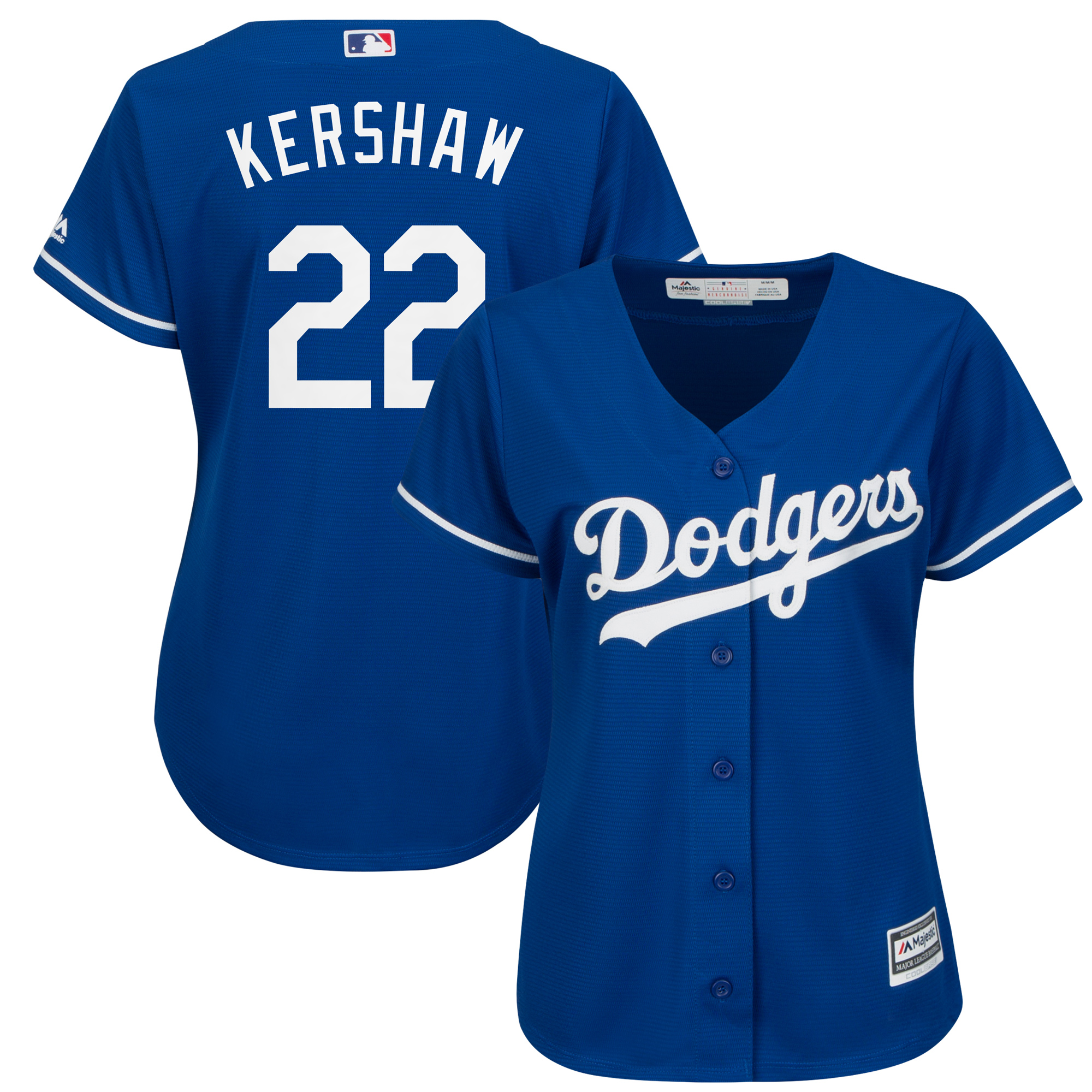 Los Angeles Dodgers Majestic Fashion Women's Cool Base Player Jersey - Royal